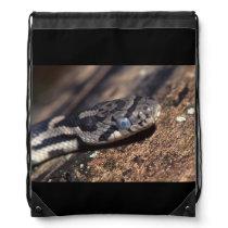 eastern fox snake drawstring backpack