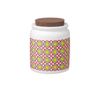 Eastern geometric floral design candy dishes