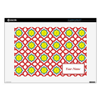 Eastern geometric floral design decal for laptop