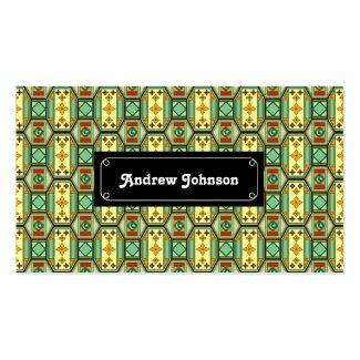 Eastern geometric pattern Double-Sided standard business cards (Pack of 100)