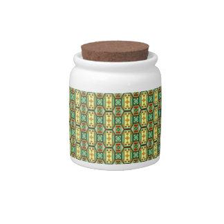 Eastern geometric pattern candy jar
