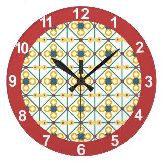 Eastern geometric pattern large clock