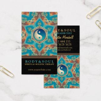 Eastern Gold Lotus Flower Yin Yang Business Cards