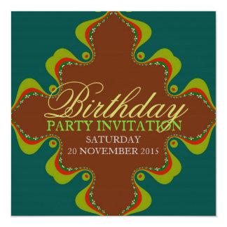 Eastern Green Goddess Party Birthday Invitations