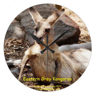 Eastern Grey Kangaroo Large Clock