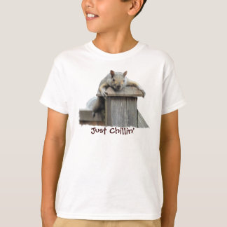 Eastern Grey Squirrel Just Chillin' Funny T-Shirt