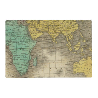 Eastern Hemisphere 15 Laminated Placemat