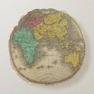 Eastern Hemisphere 15 Round Pillow