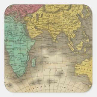Eastern Hemisphere 15 Square Sticker