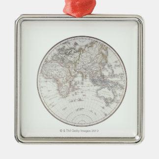 Eastern Hemisphere 2 Metal Ornament
