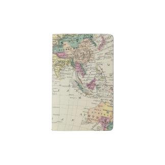 Eastern Hemisphere 2 Pocket Moleskine Notebook