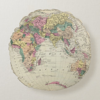 Eastern Hemisphere 2 Round Pillow