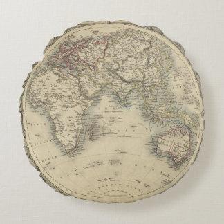 Eastern Hemisphere 4 2 Round Pillow