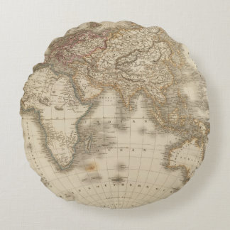 Eastern Hemisphere 5 Round Pillow
