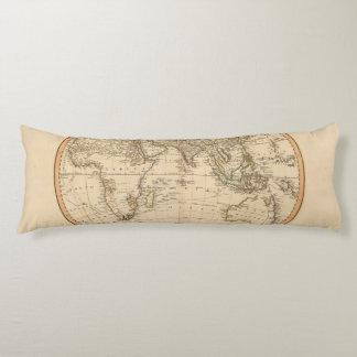 Eastern Hemisphere Circular Map Body Pillow