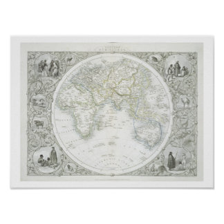 Eastern Hemisphere, from a Series of World Maps pu Poster