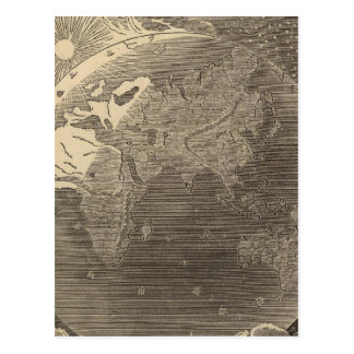 Eastern Hemisphere Map by Goodrich Postcard