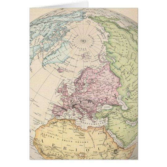 Eastern Hemisphere of Europe Card