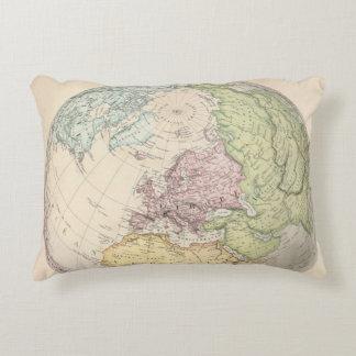 Eastern Hemisphere of Europe Decorative Pillow