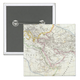 Eastern Hemisphere World Lithographed Map Button