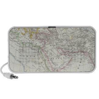 Eastern Hemisphere World Lithographed Map Travel Speakers