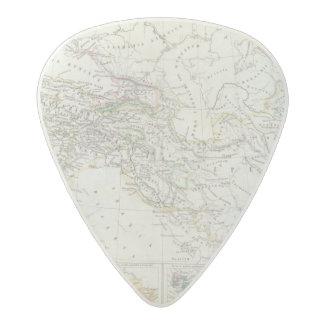 Eastern Hemisphere World Map Acetal Guitar Pick