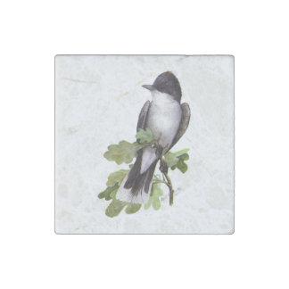 Eastern Kingbird on oak by Louis Agassiz Fuertes Stone Magnet