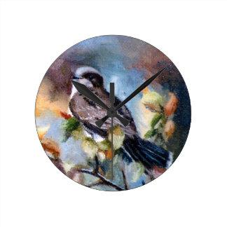 Eastern Kingbird Round Clock