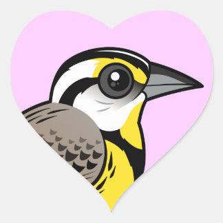 Eastern Meadowlark Heart Sticker