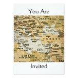"Eastern Mediterranean Map Invitation 5"" X 7"" Invitation Card"