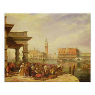 Eastern Merchants at the Entrance to the Grand Can Print