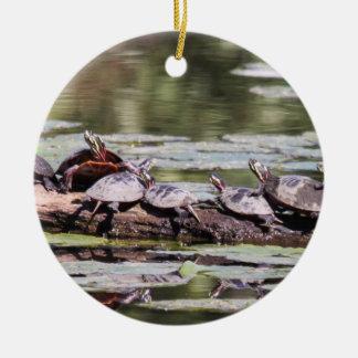 Eastern Painted Turtle Ceramic Ornament