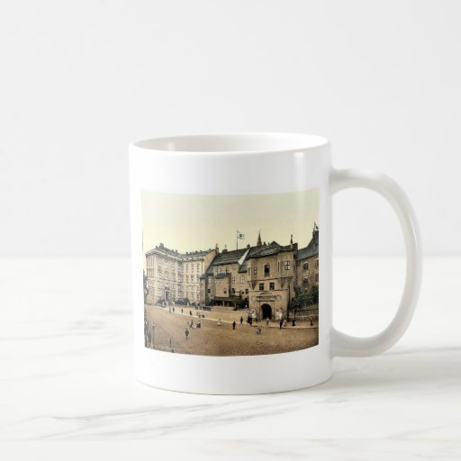 Eastern part of castle and principal garden, Konig Classic White Coffee Mug