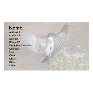 Eastern Phoebe approaching nest Business Card Template