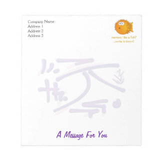 Eastern Pictogram, Strength, Silence wise sayings Notepad