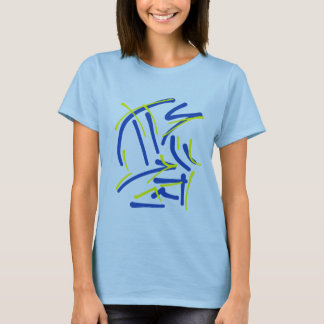 Eastern Pictograms - Blues, Yellows T-Shirt