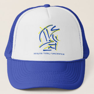 Eastern Pictograms - Blues, Yellows, Wise Sayings Trucker Hat
