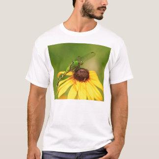 Eastern Pondhawk Dragonfly on Black Eyed Susan T-Shirt