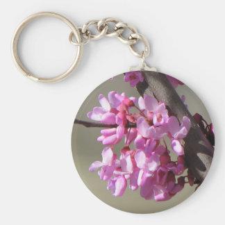 Eastern Redbud  Blooms Basic Round Button Keychain