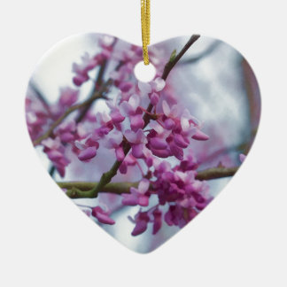 Eastern Redbud Wildflowers - Cercis canadensis Ceramic Ornament