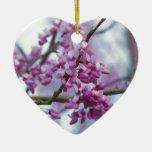 Eastern Redbud Wildflowers - Cercis canadensis Christmas Ornament