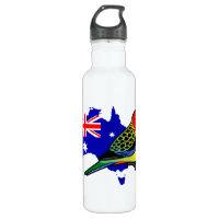 Eastern Rosella of Australia Water Bottle (24 oz)