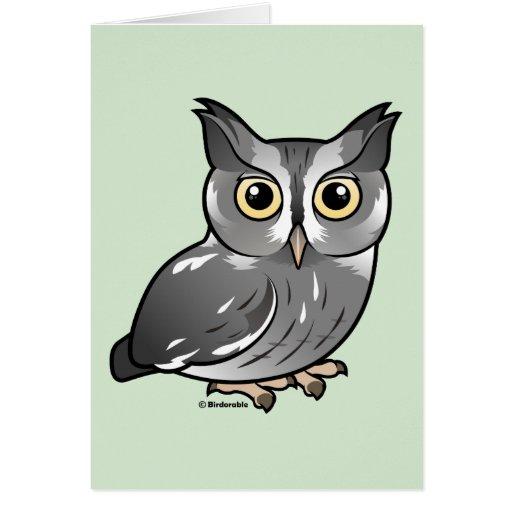 Eastern Screech Owl (Gray Phase) Card
