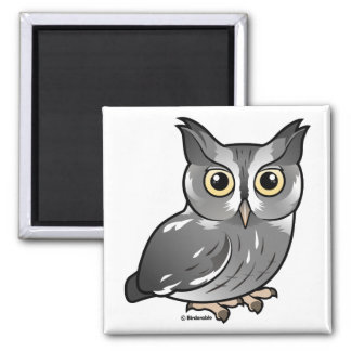 Eastern Screech Owl (Gray Phase) Refrigerator Magnets