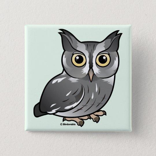 Eastern Screech Owl (Gray Phase) Pinback Button