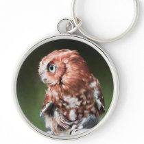 Eastern Screech Owl Keychain