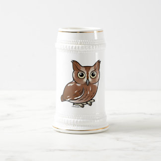 Eastern Screech Owl (Red Phase) Beer Stein