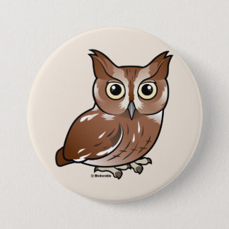 Eastern Screech Owl (Red Phase) Button