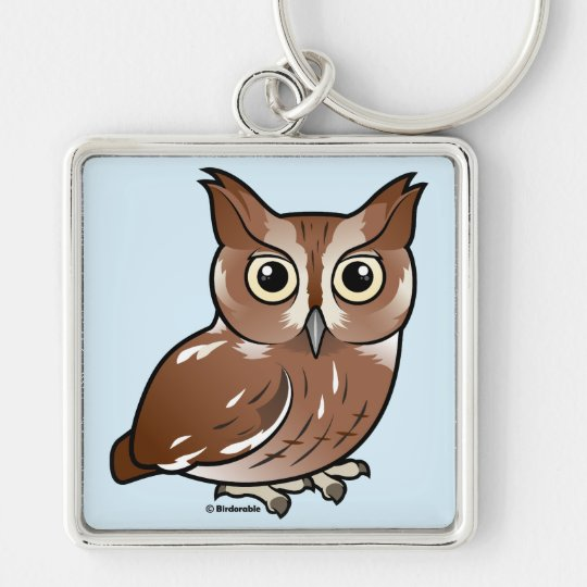 Eastern Screech Owl (Red Phase) Keychain
