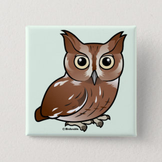 Eastern Screech Owl (Red Phase) Pinback Button
